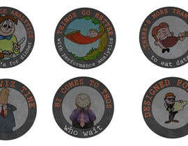 #16 para Design 4 (four) pieces of artwork to be used as badges / button pins por dhonivenkat