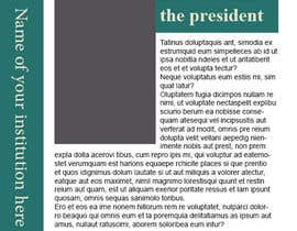 #6 for Template/Theme for Annual Report - InDesign (LAYOUT ONLY - no content) af mohamedismail87