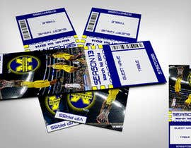 #30 para Design a Basketball Ticket to be used as a place card for party por linxdinx