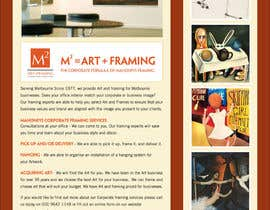 #2 para Design an E-Newsletter for framing business por Marylou2014
