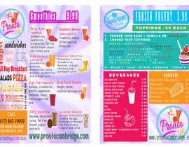 crscarey2016 tarafından Menu card design for Frozen yougurt, Ice Cream, Smoothies için no 8
