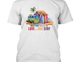 Nro 10 kilpailuun Design a Funky  Surf T-Shirt käyttäjältä pixelart1