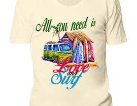 Nro 8 kilpailuun Design a Funky  Surf T-Shirt käyttäjältä razer12