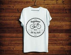 KononikhinaN tarafından 1 color Trendy Cool Hipster Alternative Bicycle T-Shirt Design(s) için no 29