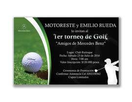 Nro 14 kilpailuun Design an Invitation to a golf tournament käyttäjältä YKNB