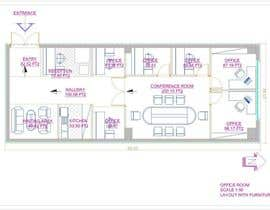 #15 for Office floor plan and furniture layout by mkejtikacka