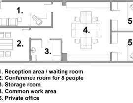 petrovickatarina tarafından Office floor plan and furniture layout için no 10