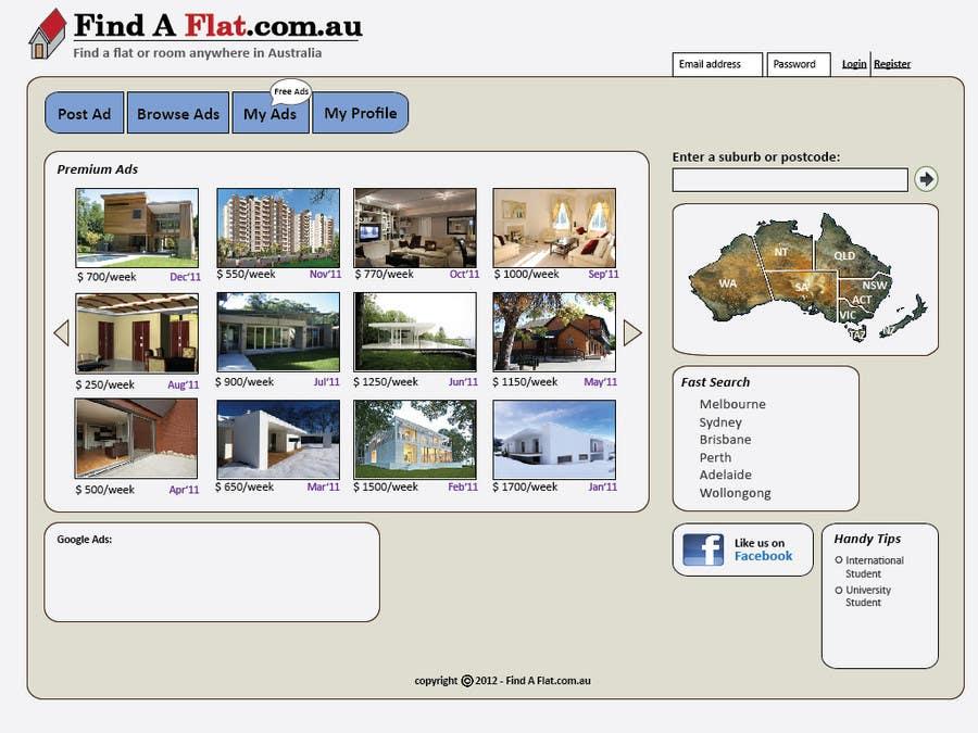 Inscrição nº                                         7                                      do Concurso para                                         Graphic Design for The business is called 'FindAFlat.com.au'
