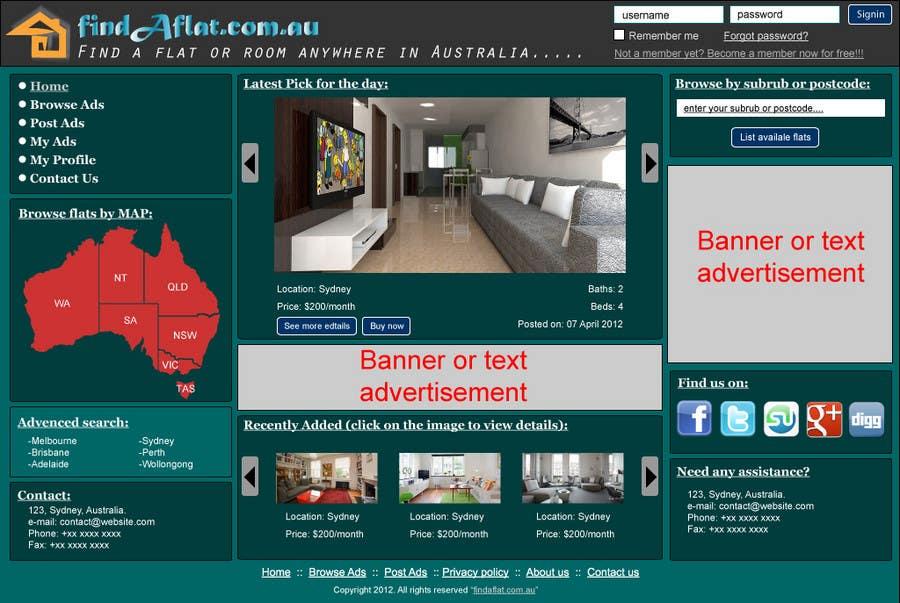 Inscrição nº                                         18                                      do Concurso para                                         Graphic Design for The business is called 'FindAFlat.com.au'