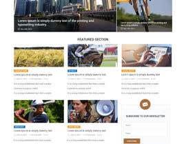 Nro 11 kilpailuun Design a Website Mockup for News Site käyttäjältä zaxsol