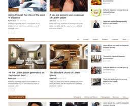 Nro 8 kilpailuun Design a Website Mockup for News Site käyttäjältä webmastersud