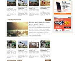 Nro 5 kilpailuun Design a Website Mockup for News Site käyttäjältä jituchoudhary