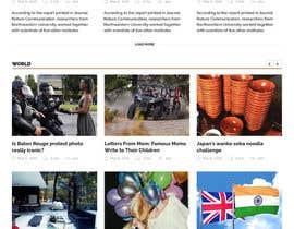 Nro 15 kilpailuun Design a Website Mockup for News Site käyttäjältä surajit666