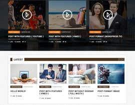 Nro 4 kilpailuun Design a Website Mockup for News Site käyttäjältä csatya