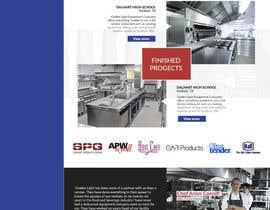 Nro 26 kilpailuun Design a Website Mockup for Restaurant Equipment Site käyttäjältä Elechu