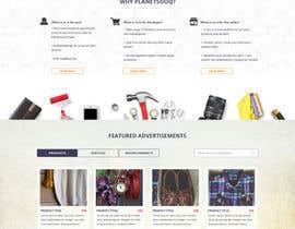 Nro 46 kilpailuun home landing page svg png design website UX UI designer käyttäjältä lysbuenavista09