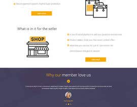 Nro 55 kilpailuun home landing page svg png design website UX UI designer käyttäjältä lacrymosh