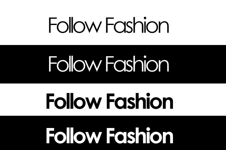 #114 for Logo Design for Follow Fashion by pivarss