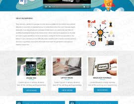 #11 for Design a WordPress Mockup by fourtunedesign
