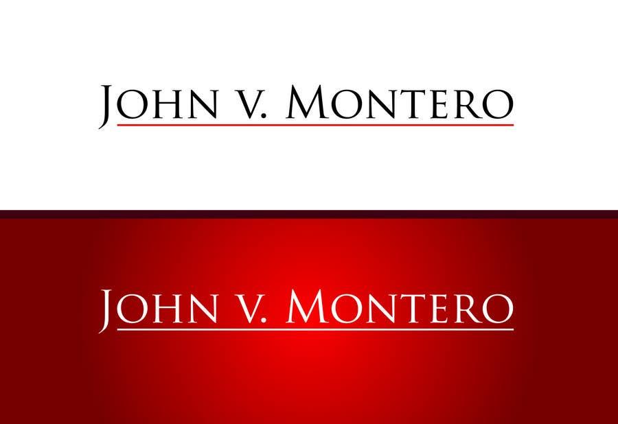 Inscrição nº 19 do Concurso para Logo Design for Law Office of John V. Montero