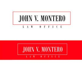 #74 for Logo Design for Law Office of John V. Montero by elgopi