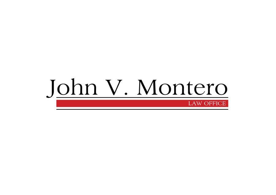 Penyertaan Peraduan #60 untuk Logo Design for Law Office of John V. Montero