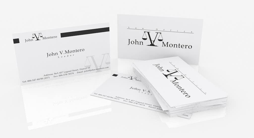 Inscrição nº 37 do Concurso para Logo Design for Law Office of John V. Montero