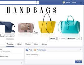 Nro 16 kilpailuun Designing a Facebook landing page for a brand of women handbags käyttäjältä Margaritafree