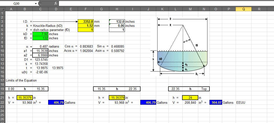 Entry #11 by poulmack for Mathematical Calculation of Volume