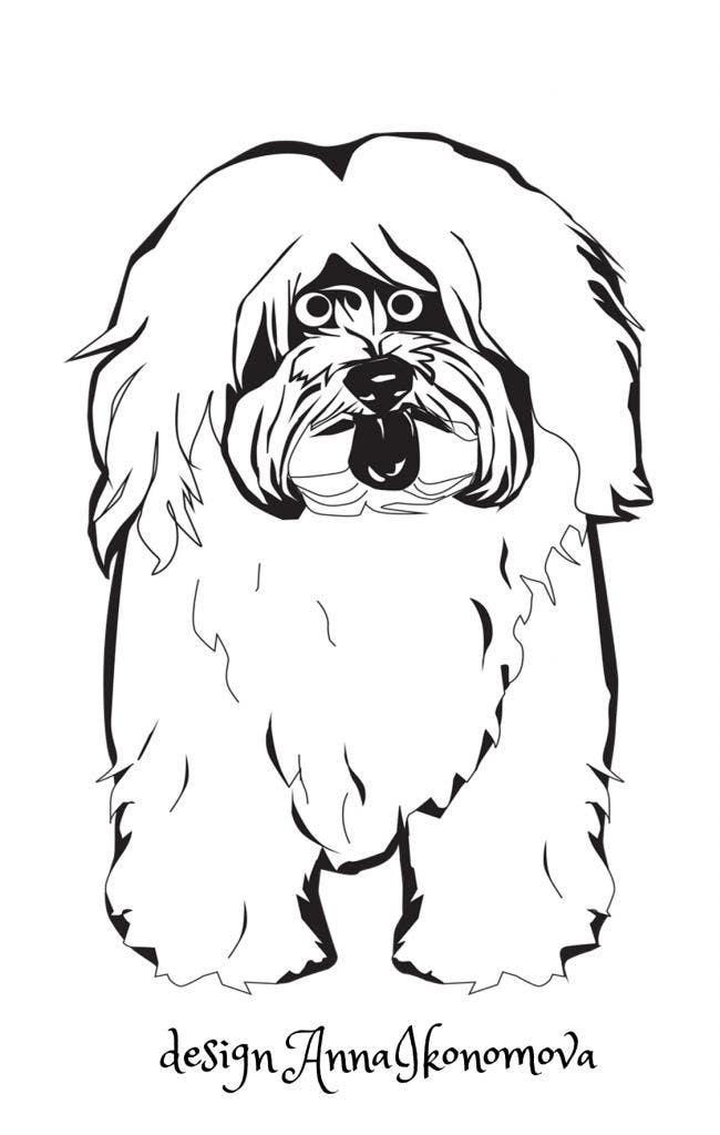 #29 for Logo / Drawing / Illustration of a dog by annaikonomova