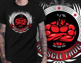 #24 untuk Design a T-Shirt for our althletic brand Muscle Thug oleh richisd