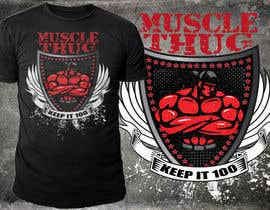 #48 for Design a T-Shirt for our althletic brand Muscle Thug af richisd