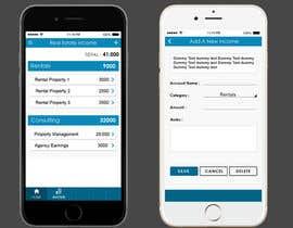 Nro 10 kilpailuun Design two Mobile App Pages käyttäjältä rahillohiya86