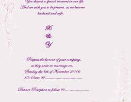 Nro 15 kilpailuun Wedding Invitation Wordings (Hindu,India) käyttäjältä Chantelle86