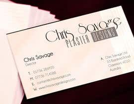 #44 untuk Business Card Design for Chris Savage Plaster Designs oleh Lozenger