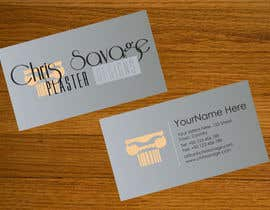#11 para Business Card Design for Chris Savage Plaster Designs por crazyboy01