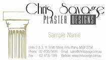Business Card Design for Chris Savage Plaster Designs için Graphic Design5 No.lu Yarışma Girdisi