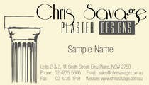 Graphic Design Penyertaan Peraduan #4 untuk Business Card Design for Chris Savage Plaster Designs