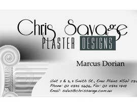 nº 51 pour Business Card Design for Chris Savage Plaster Designs par r3x