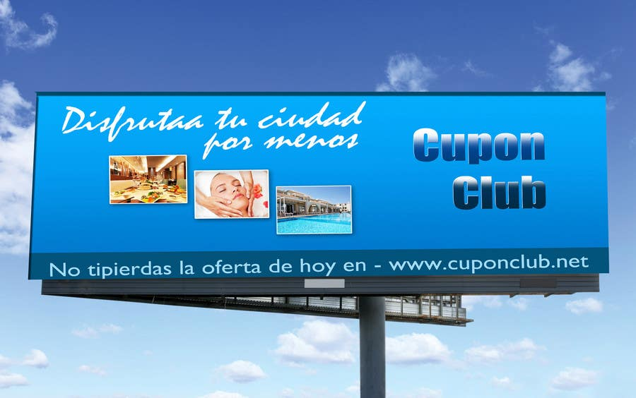 Proposition n°                                        25                                      du concours                                         Billboard Design for Cupon Club