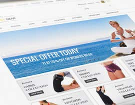 #83 para Design a Website Mockup for Elite Yoga Gear por decapro