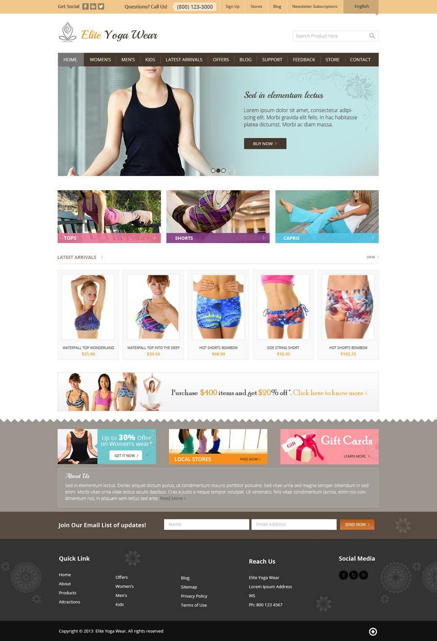 #52 for Design a Website Mockup for Elite Yoga Gear by Pavithranmm