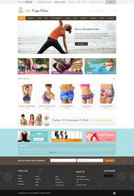 #128 for Design a Website Mockup for Elite Yoga Gear by Pavithranmm