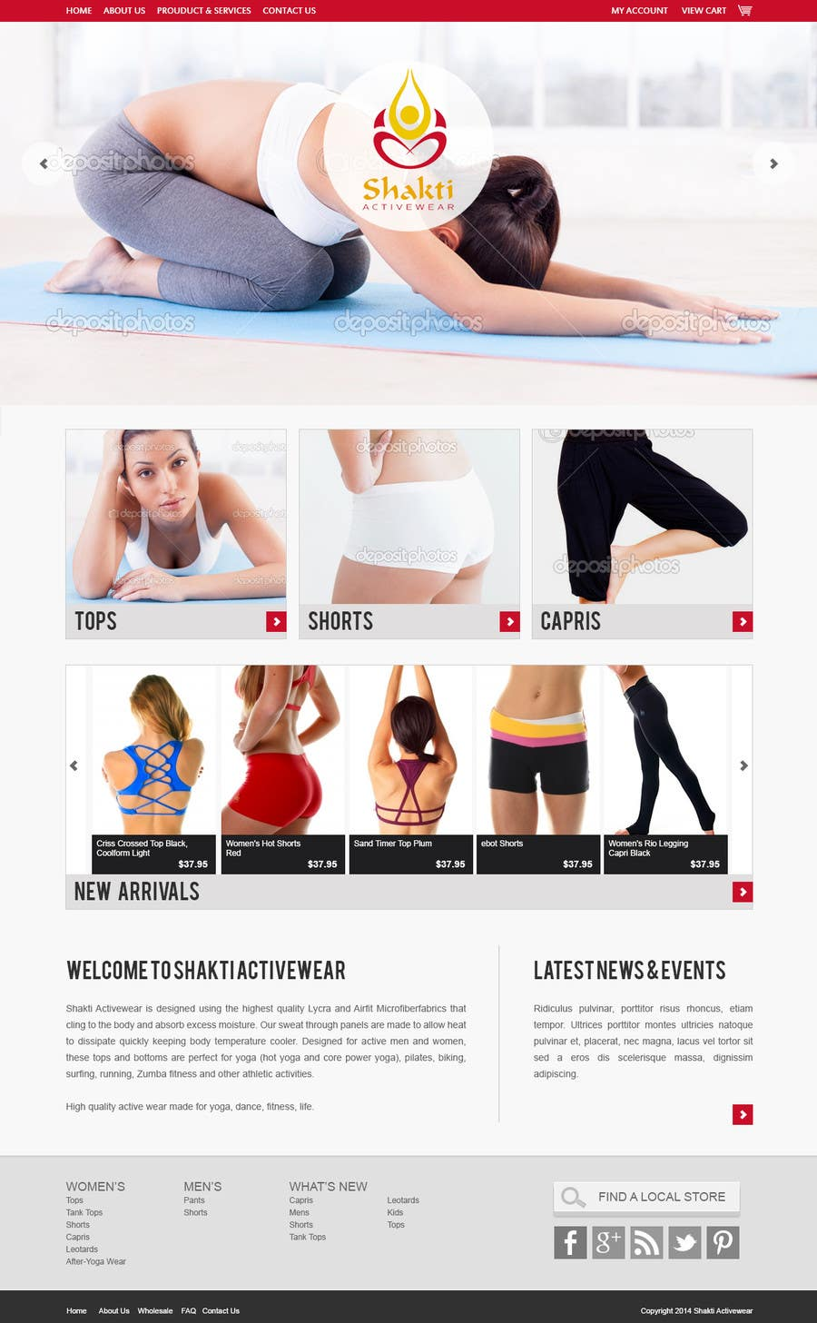 #60 for Design a Website Mockup for Elite Yoga Gear by robertlopezjr