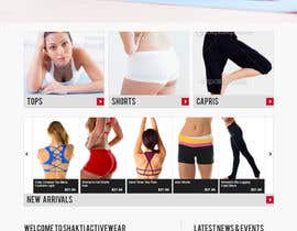 #60 para Design a Website Mockup for Elite Yoga Gear por robertlopezjr