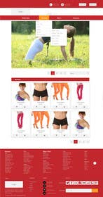 #125 for Design a Website Mockup for Elite Yoga Gear by king5isher