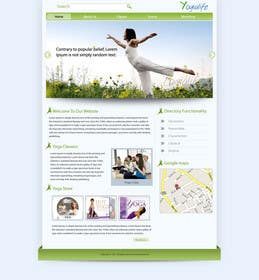 #113 for Design a Website Mockup for Elite Yoga Gear by bestatall