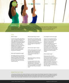 #115 for Design a Website Mockup for Elite Yoga Gear by bestatall