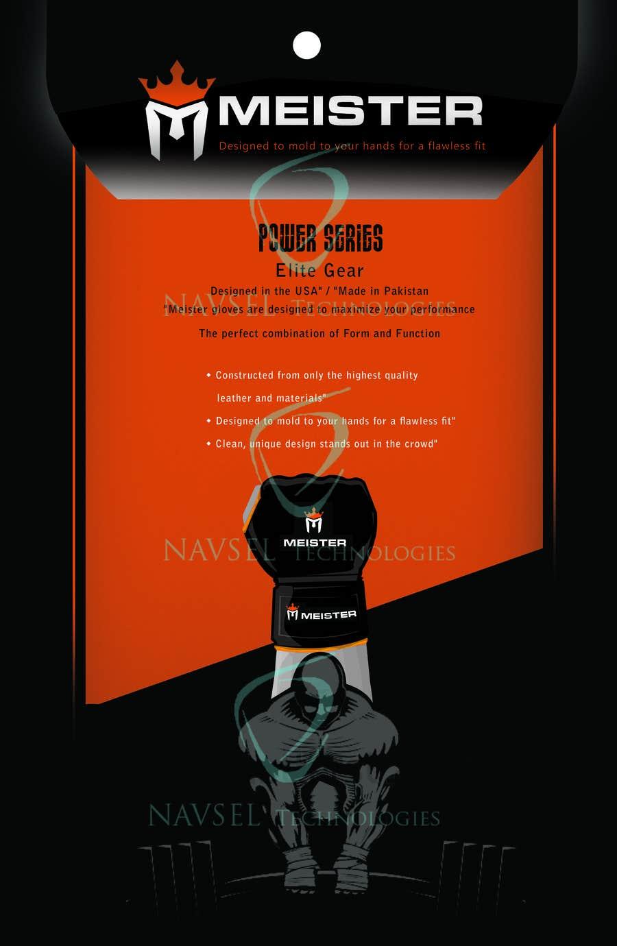 Kilpailutyö #3 kilpailussa Packaging Design for Weight Lifting Gloves