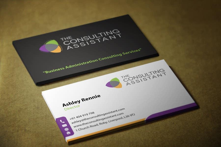 Kilpailutyö #37 kilpailussa Design some Business Cards for The Consulting Assistant Pty Ltd